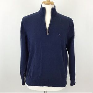 Tommy Hilfiger Navy Blue 1/4 Zip Sweater
